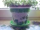 Decoupage tegle za cvijeće