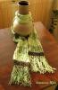 zeleno-smeđi šal s zelenim šatiranim dodatkom :)