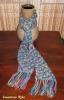 plavo-žuto-rozi šatirani šal :)