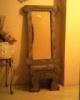 ogledalo i klupica od kartona