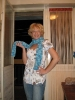 svijetlo plavi šatirani šal :)