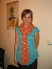 rozo-žuti šatirani šal :)